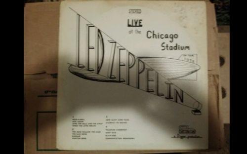 LED ZEPPELIN   Live At The Chicago Stadium 1975   Mega Rare  2 LP Live M   vinyl