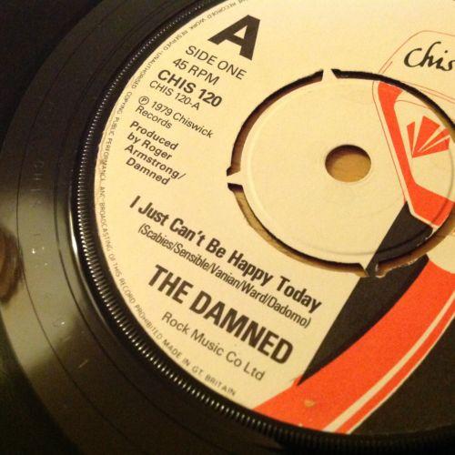 Damned Just Cant Be MEGA RARE DJ RADIO EDIT ALabel ORIG 7 UK PS Chiswick Punk