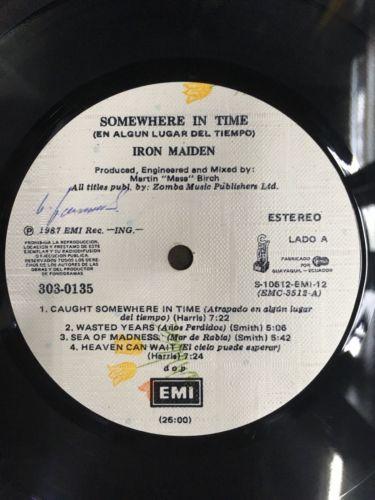 Iron Maiden Somewhere In Time LP ECUADOR press ULTRA MEGA RARE