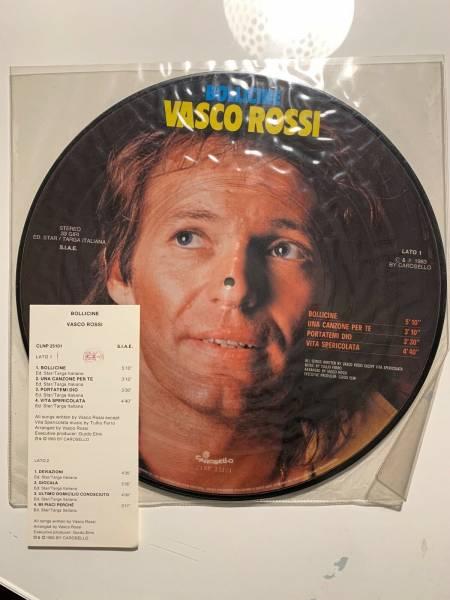VASCO ROSSI LP PICTURE DISC BOLLICINE PRIMA STAMPA ORIGINALE 1983  CON STICKER