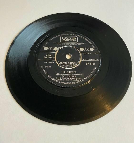 RARE    RAY POLLARD   THE DRIFTER   NORTHERN SOUL  VINYL 45 RECORD  456