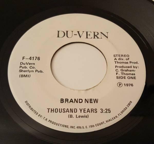 BRAND NEW   THOUSAND YEARS 7  DU VERN F 4176 US 1976 Modern Soul Funk 45 EX