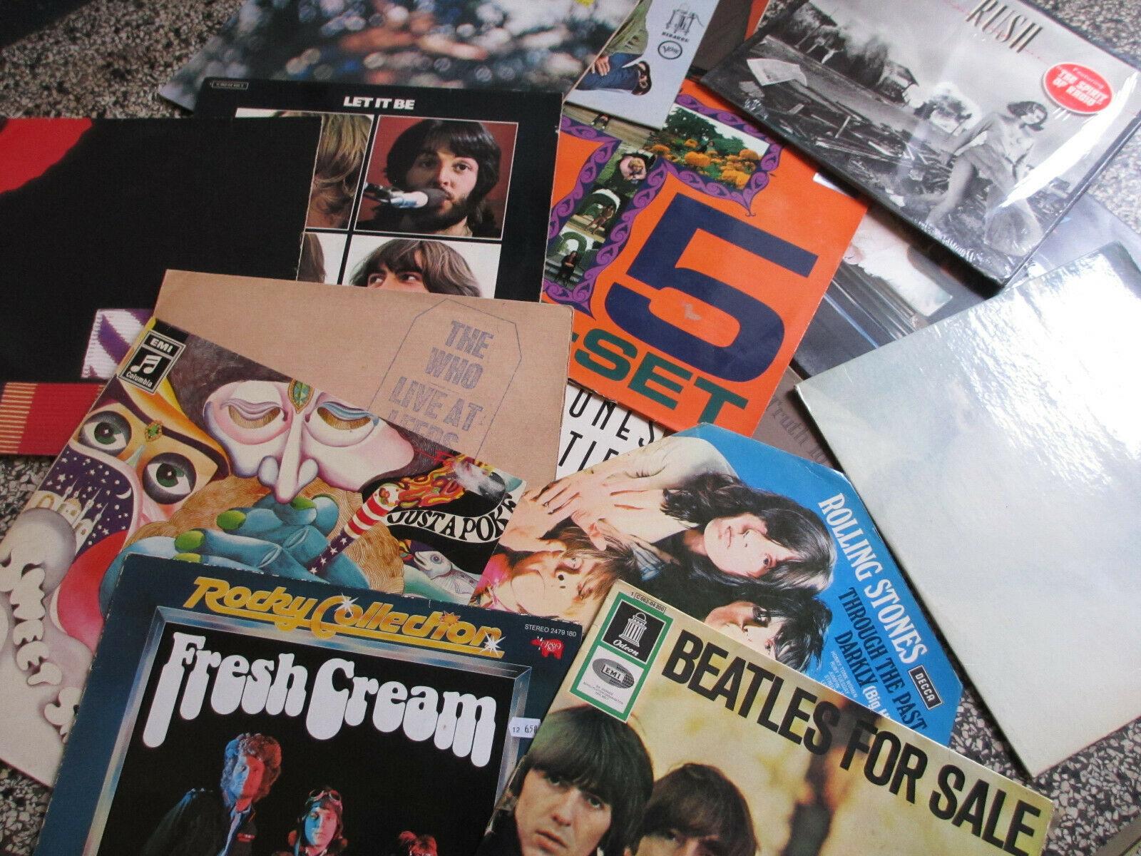 Vinyl LP Sammlung Rock  Beat  Prog  Psychedelic  Reggae  Wave etc 80 St  ck