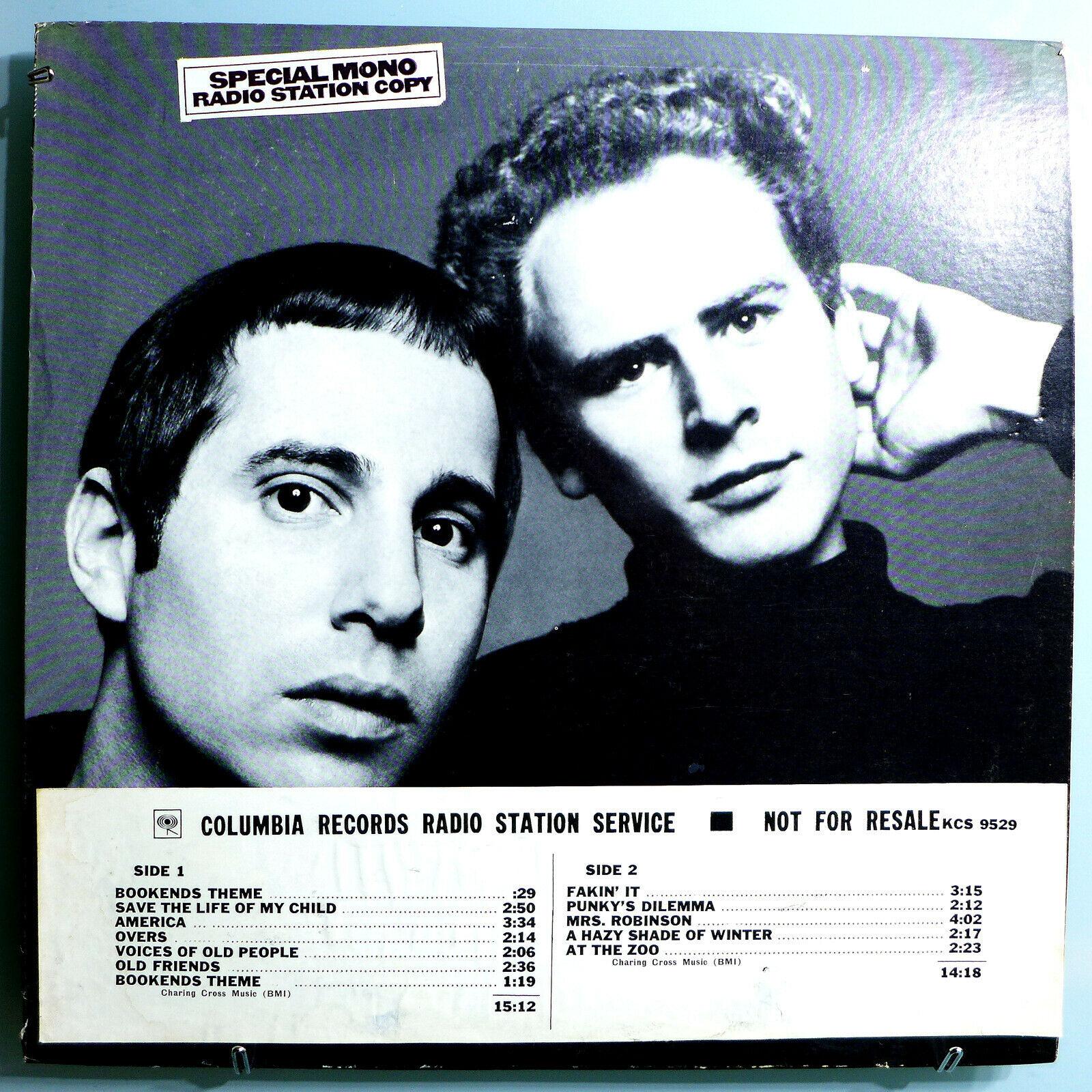 SIMON   GARFUNKEL BOOKENDS INSANELY RARE ORIG 1968 MONO WHITE LABEL PROMO LP