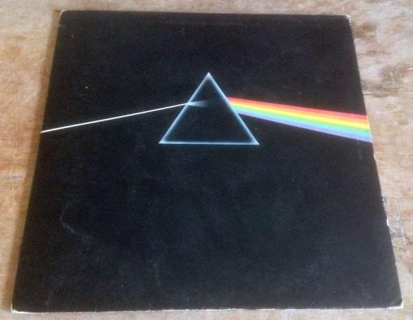 PINK FLOYD dark side of the moon 1973 UK HARVEST VINYL SOLID BLUE TRIANGLE A2 B2