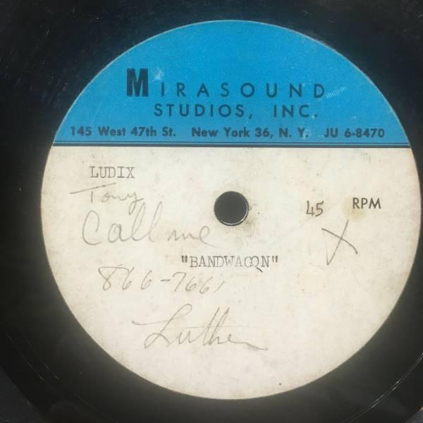 UNKNOWN ARTIST unreleased NORTHERN SOUL 45 rpm acetate LUTHER DIXON ludix RARE