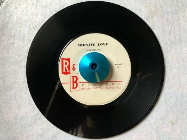 Downbeats MIDNITE LOVE   THINKIN  OF YOU R B Island ska shuffle doo wop 7  45