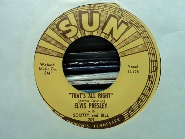 ELVIS PRESLEY 7   That s All Right   Blue Moon Of Kentucky SUN U 129