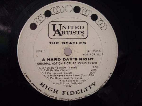 PROMO The Beatles A Hard Days Night 1964 Mono LP