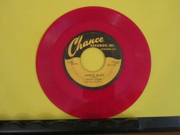 VHTF RED WAX BLUES 45 Johnny Sellers Chance 1138 VG  Mirror Blues Newport News