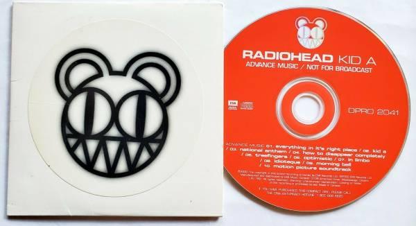 Radiohead Kid A cd promo CANADA