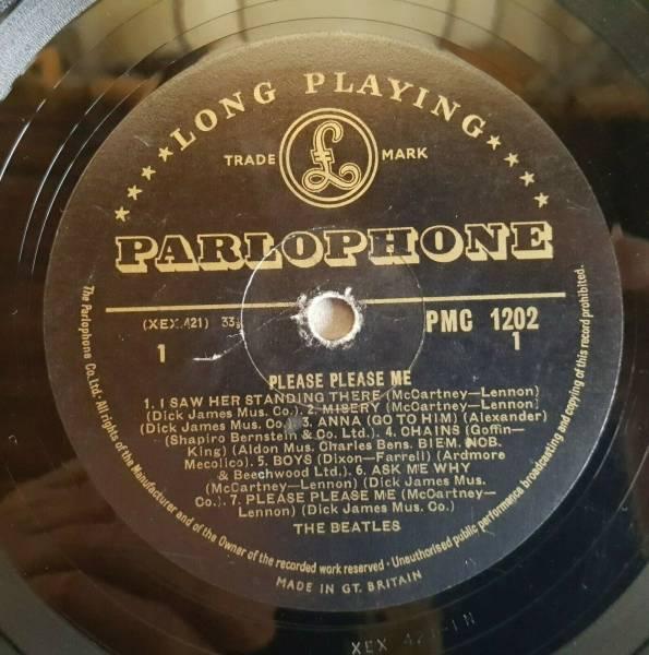 The Beatles Please Please Me LP Mono PMC1202 1st UK Black Gold label Dick James