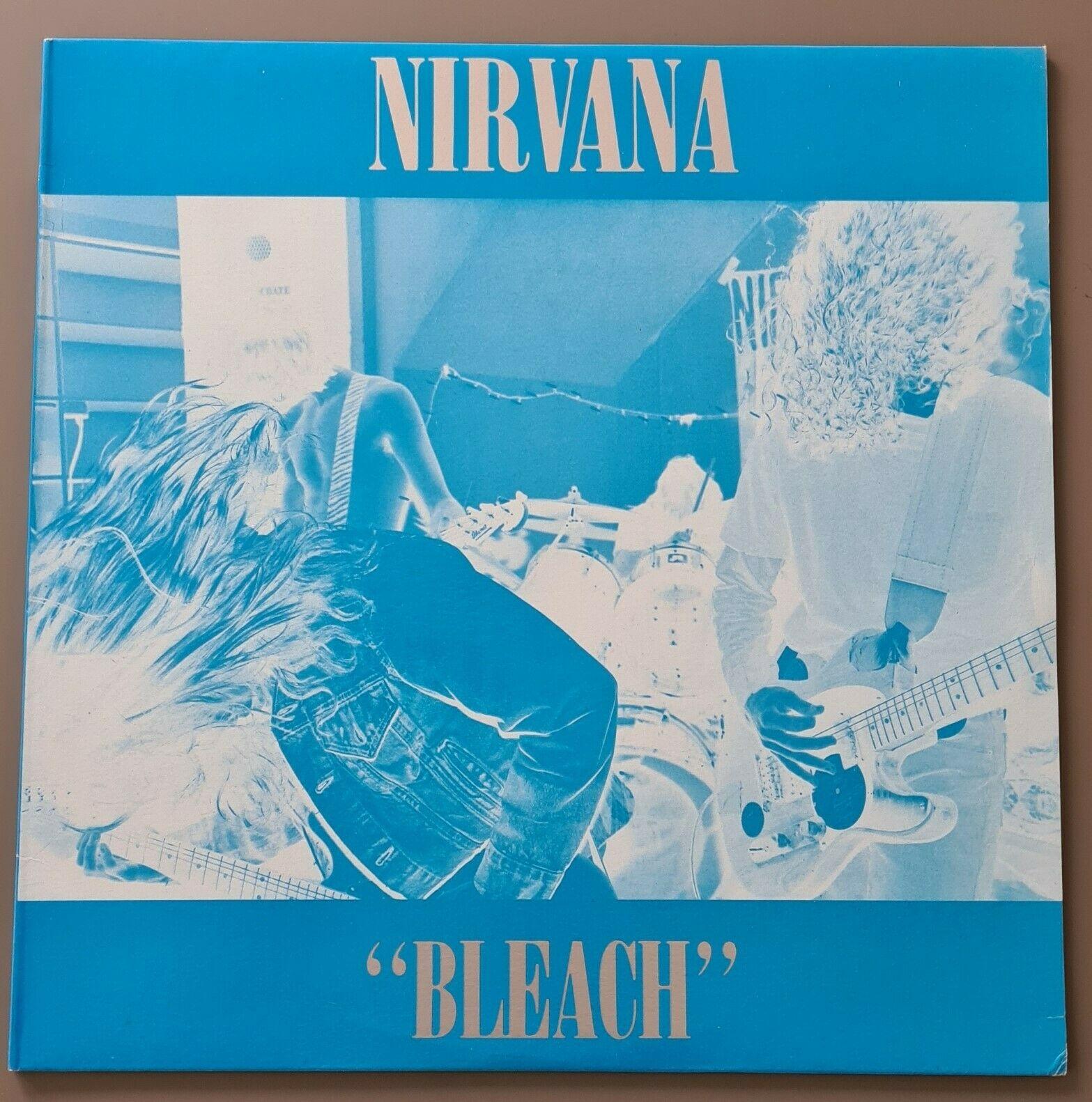 Nirvana   Bleach  Waterfront Records     DAMP 114  Blue Vinyl  Blue   Silver Sleev