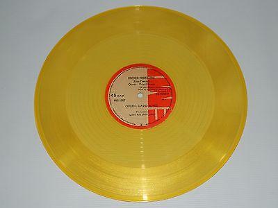 Queen David Bowie Yellow Vinyl Translucent Ultra Rare Press Colombia Maxi Single