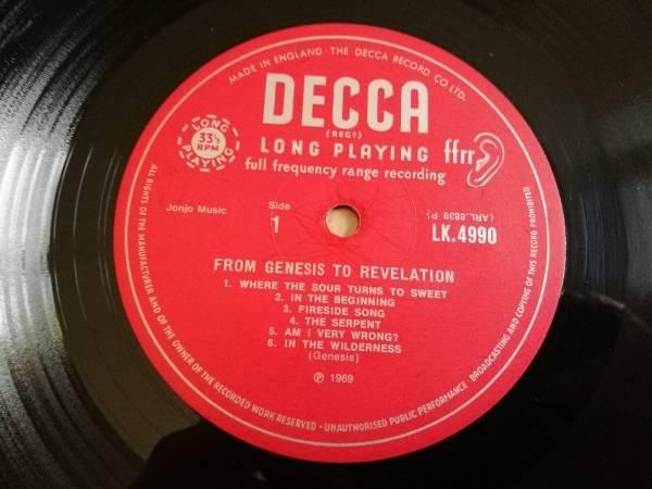 Genesis LP From Genesis to revelation UK Decca Mono 1st press   insert HOLYGRAIL