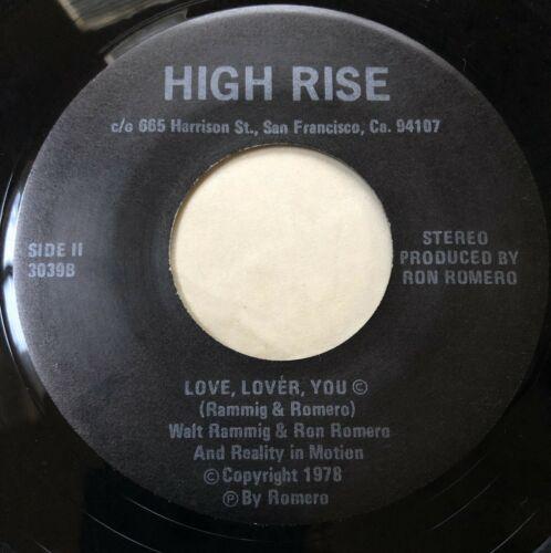 High Rise 45 rare UNKNOWN private Bay Area modern soul jazz funk 1978 hear it