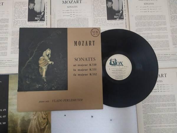 Vlado Perlemuter  Wolfgang Amadeus Mozart        Sonates   6LP   Vox IB 110    IB 160