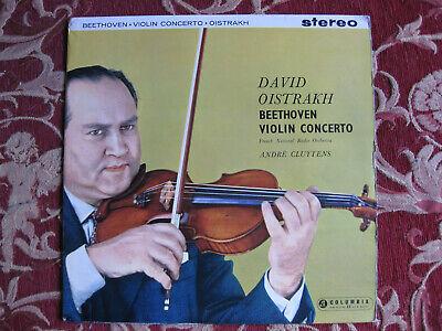COLUMBIA SAX 2315 blue silver Beethoven LP Oistrakh Cluytens UK Columbia 1st ED