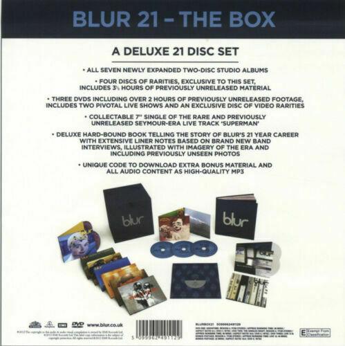 BLUR 21 Boxset New   Sealed 18 CD 3 DVD 7    Vinyl Book as new
