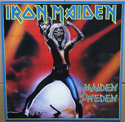 Iron Maiden   Venezuela Sweden Cover LP Ultra Rare Blue Vinyl