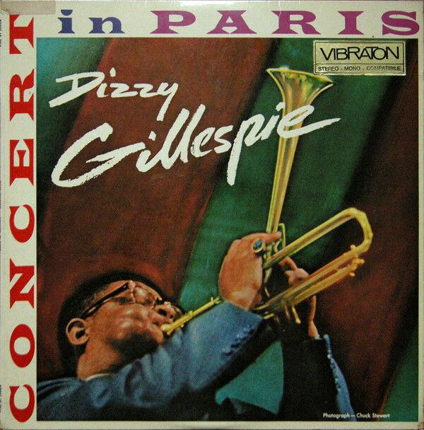Autografo originale Dizzy Gillespie su LP Concert in Paris