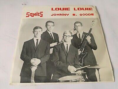 SONICS INC louie louie 45   PICTURE SLEEVE KILLER CRUDE GARAGE PUNK HEAR