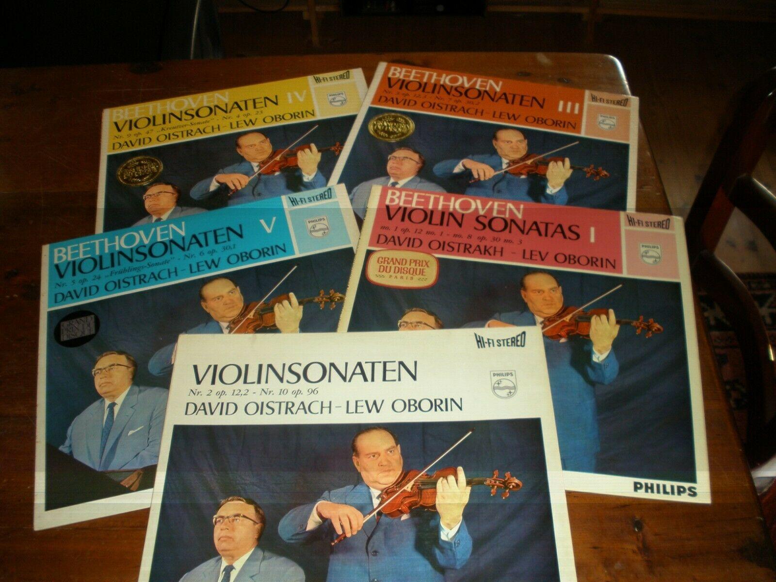 Beethoven Violin Sonatas Oistrakh Oborin 5 LP Philips Hi Fi stereo 855150 154 1E