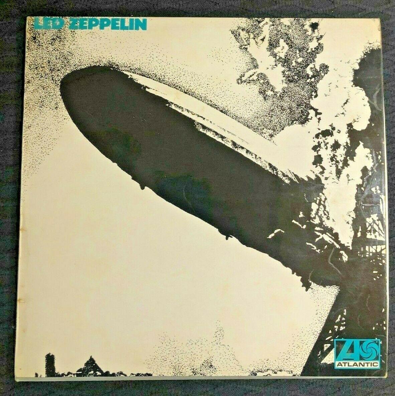Led Zeppelin 1 1969 1st Press Uncorrected A  1 B  1 Turquoise Sleeve Vinyl LP