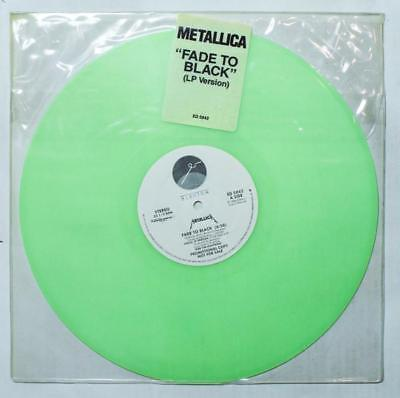 METALLICA Fade To Black 12  GREEN Vinyl PROMO 1985 ED 5042 VG   HEAR K 1533