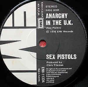 SEX PISTOLS Anarchy In The UK 1976 Australian super rare b w 7  MINT
