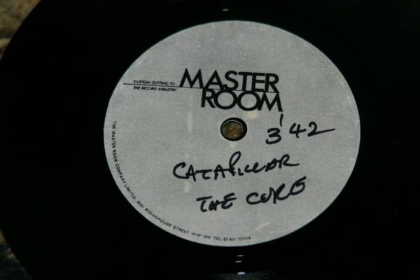 THE CURE ONE SIDED ACETATE 45  CATERPILLAR  MINT  EXTREMELY RARE KBD