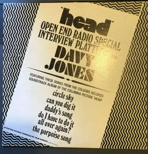 The Monkees Rarest US Vinyl LP Head Open End Radio Special Davy Jones w SCRIPT