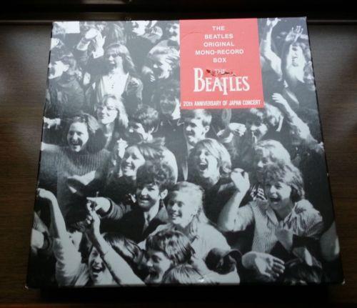 MINT THE BEATLES JAPAN ORIGINAL MONO RECORD BOX 11 RED WAX LP OBI SET in 1986