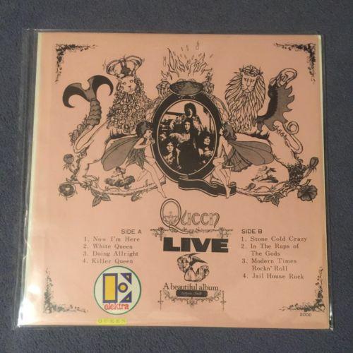 Queen Live   A Beautiful Album Japan 1975 rare LP no CD OG TMOQ private pressing
