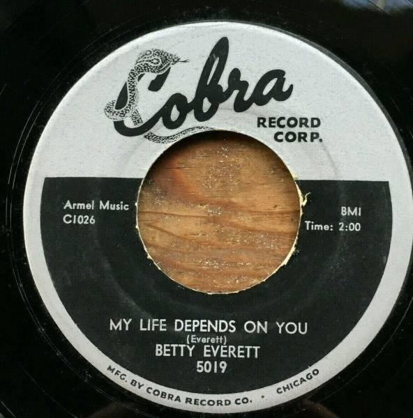 RARE SOUL 45 BETTY EVERETT My Life Depends On You   My Love COBRA 5019