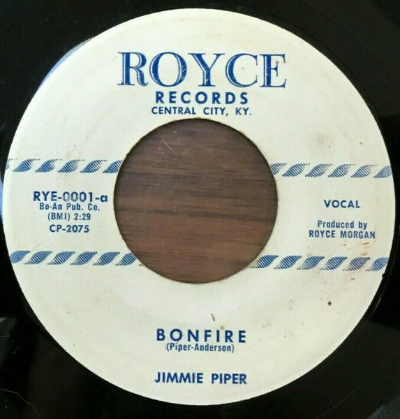 JIMMIE PIPER Bonfire   I Met A Girl  With Golden Hair  RARE ROCKABILLY 45 Royce