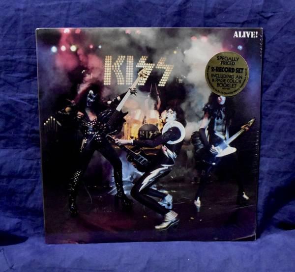 KISS MEGA RARE SEALED 2LP ALIVE  1975 USA 1st PRESS SUPER RARE HYPE STICKER