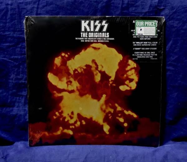 KISS MEGA RARE SEALED 3LP THE ORIGINALS 1976 USA 1st PRESS RARE HYPE STICKER