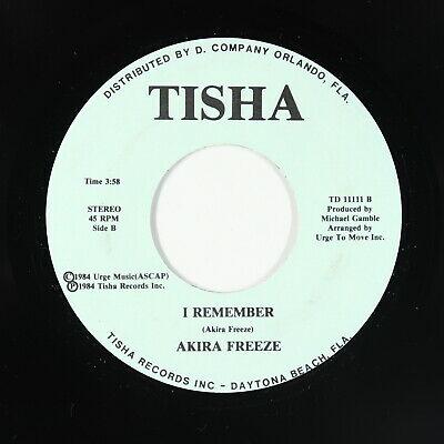 Modern Soul Funk Electro 45   Akira Freeze   I Remember   Tisha   VG   unknown