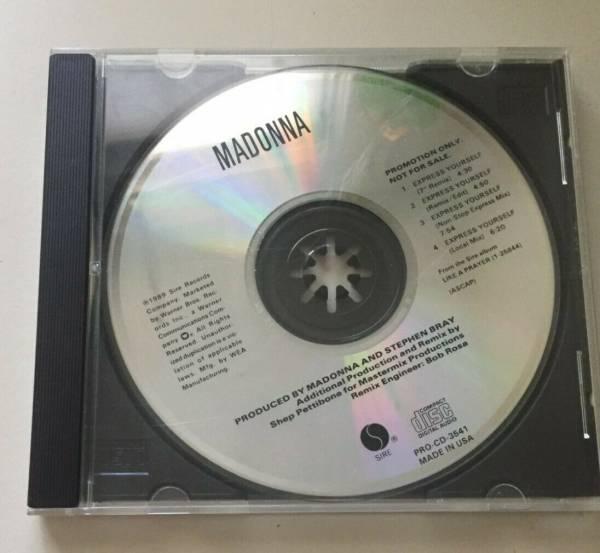 Madonna Express Yourself Promo CD USA Remixes 1989 PRO CD 3541
