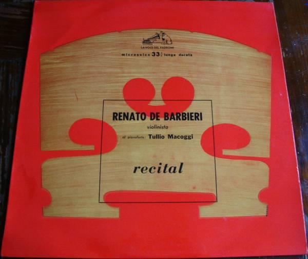 RENATO DE BARBIERI   VIOLIN RECITAL VDP QCLP 12023 MONO 1956 FIRST PRESS RARE EX