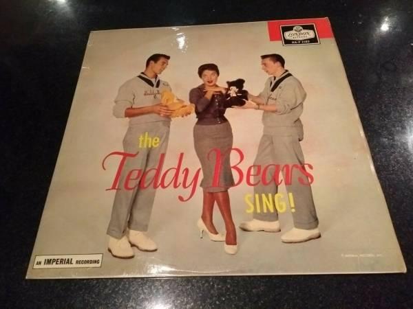 THE TEDDY BEARS SING  RARE UK LP 1959 PHIL SPECTOR LONDON HA P 2183  EX    EX