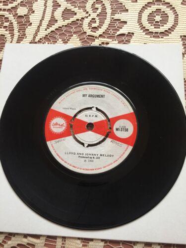 Johnny Melody Foey Man My Argument Lloyd     7    Vinyl Original 1968 Reggae Rare