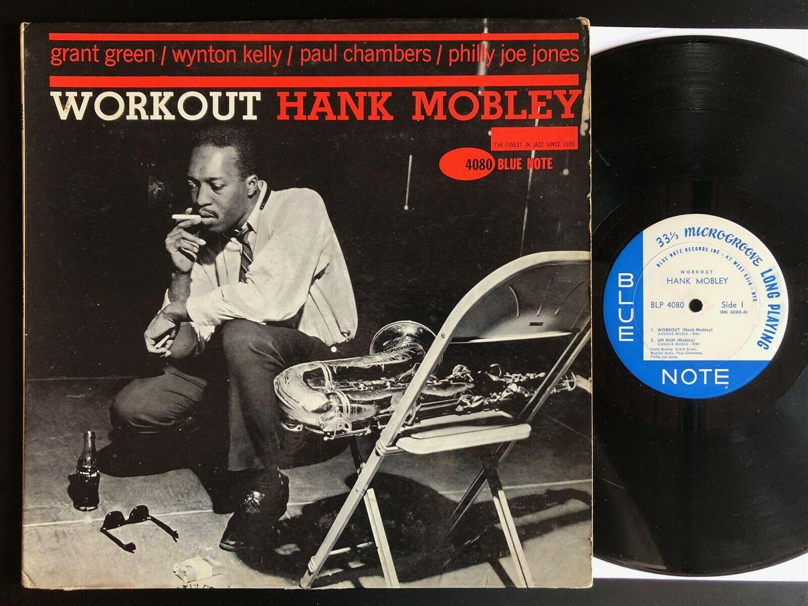 HANK MOBLEY Workout MONO W 63rd JAZZ LP on BLUE NOTE BLP 4080