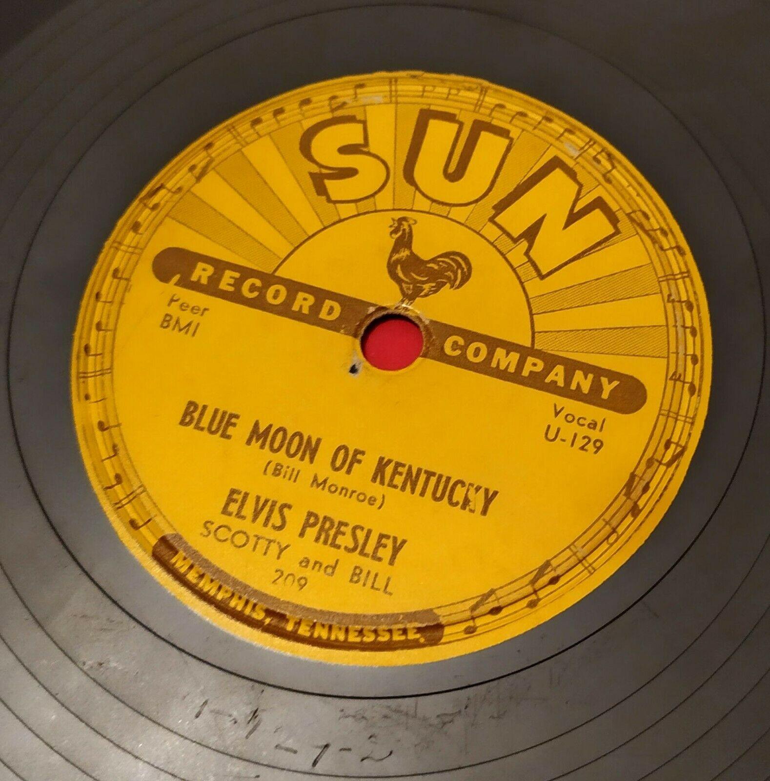 ELVIS PRESLEY  78 RPM   U S  SUN 209   THAT S ALL RIGHT    TOP RARE SUN RECORD