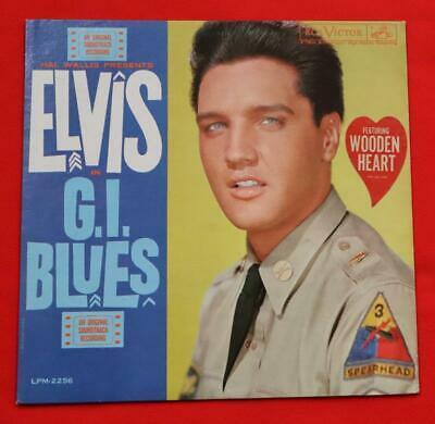 Elvis  G I  Blues  BAGGY w WOODEN HEART STICKER LSP 2256 Original 1960 LP M M