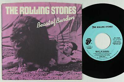 Rolling Stones Picture Sleeve 45   Beast Of Burden   VG  rare recalled OG