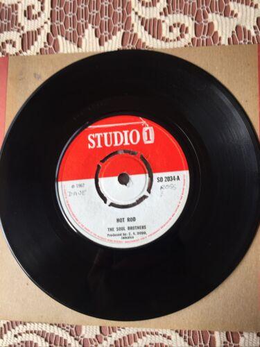 The Soul Brothers Hot Rod The Gaylads Africa 7    Vinyl Original Studio 1 1967 Ska