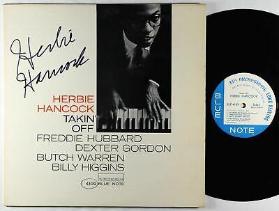 Herbie Hancock   Takin  Off LP   Blue Note OG Mono RVG Ear NY USA Autograph