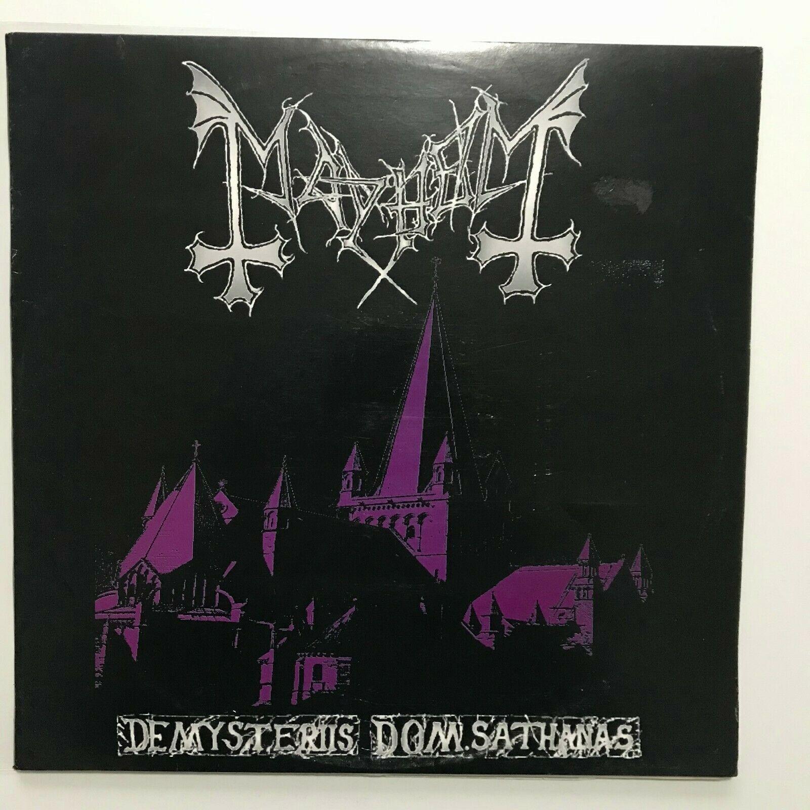 Mayhem De mysteriis dom sathanas LP 1st press Deathlike silence 94 satyricon